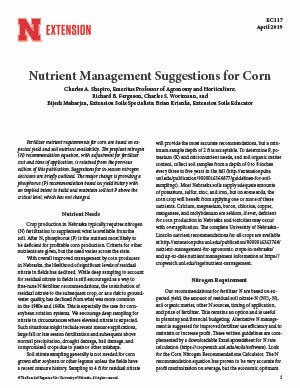 Fertilizer Suggestions For Corn