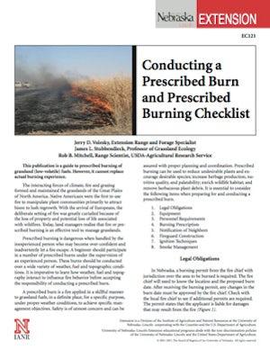 Conducting a Prescribed Burn and Prescribed Burning Checklist