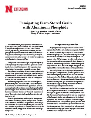 Fumigating Farm-Stored Grain with Aluminum Phosphide