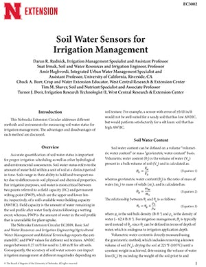 Soil Water Sensors for Irrigation Management (EC3002)