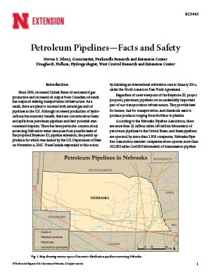 Petroleum Pipelines—Facts and Safety (EC3003)