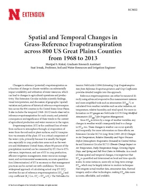 Spatial and Temporal Changes in Grass-Reference Evapotranspiration (EC3022)