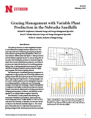 Grazing Management with Variable Plant Production in the Nebraska Sandhills