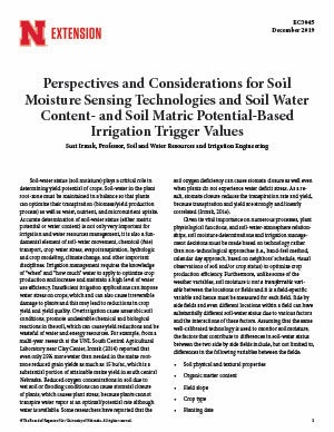 Perspectives and Considerations for Soil Moisture Sensing Technologies and Soil Water Content-and Soil Matric Potential-Based Irrigation Trigger Values