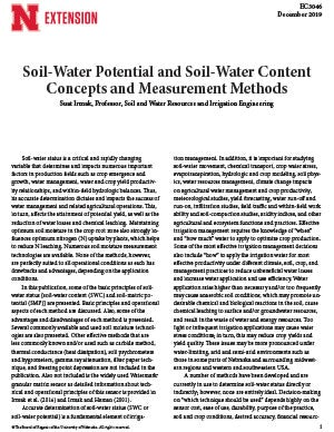Soil-Water Potential and Soil-Water Content Concepts and Measurement Methods