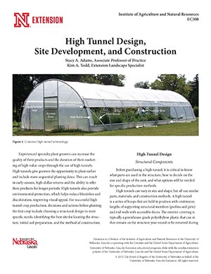 High Tunnel Design, Site Development, and Construction