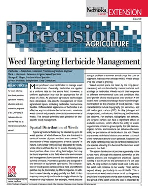 Weed Targeting Herbicide Management