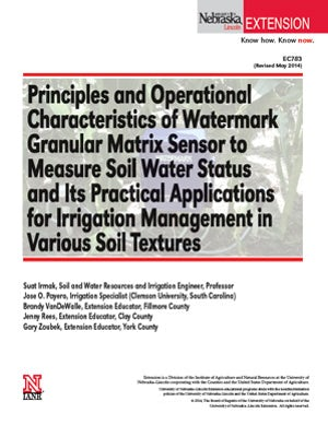 Principles and Operational Characteristics of Watermark Granular Matrix Sensor to Measure Soil Water Status and its Practical Applications for Irrigation Management in various Soil Textures