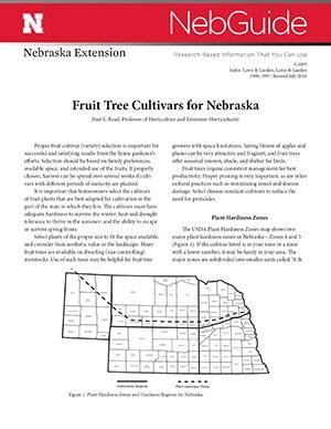 Fruit Tree Cultivars for Nebraska (G1005)