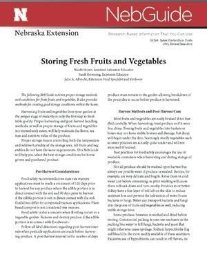 Storing Fresh Fruits and Vegetables (G1264)