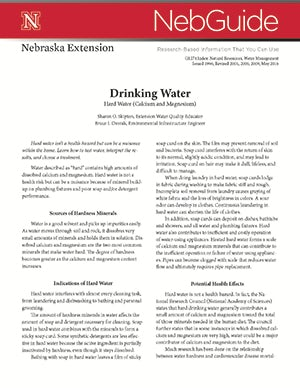 Drinking Water: Hard Water (Calcium and Magnesium) (G1274)