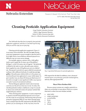 Cleaning Pesticide Application Equipment (G1770)