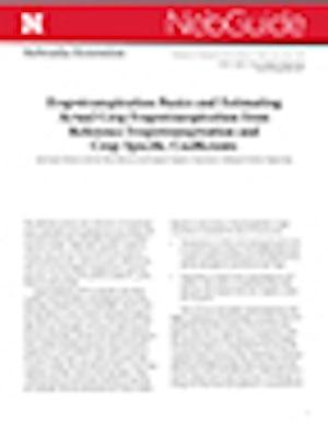 Estimating Crop Evapotranspiration from Reference Evapotranspiration and Crop Coefficients