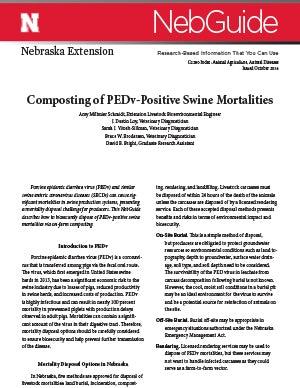Composting of PEDv-Positive Swine Mortalities (G2280)