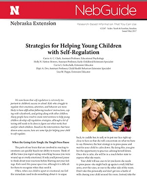 Strategies for Helping Young Children with Self-­Regulation