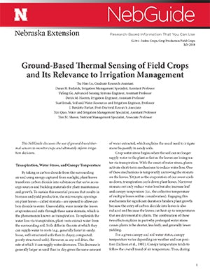Ground-­Based Thermal Sensing of Field Crops and Its Relevance to Irrigation Management (G2301)