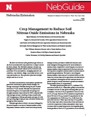 Crop Management to Reduce Soil Nitrous Oxide Emissions in Nebraska