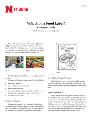 What's on a Food Label?