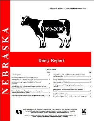 Nebraska Dairy Report, 1999-2000