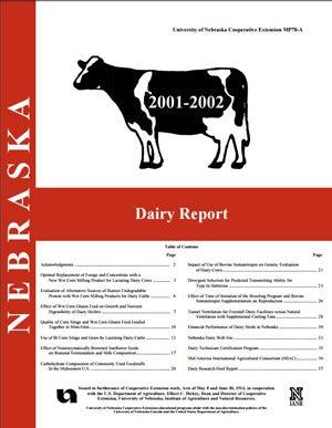 Nebraska Dairy Report 2001-2002
